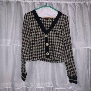 Zara cropped tweed cardigan